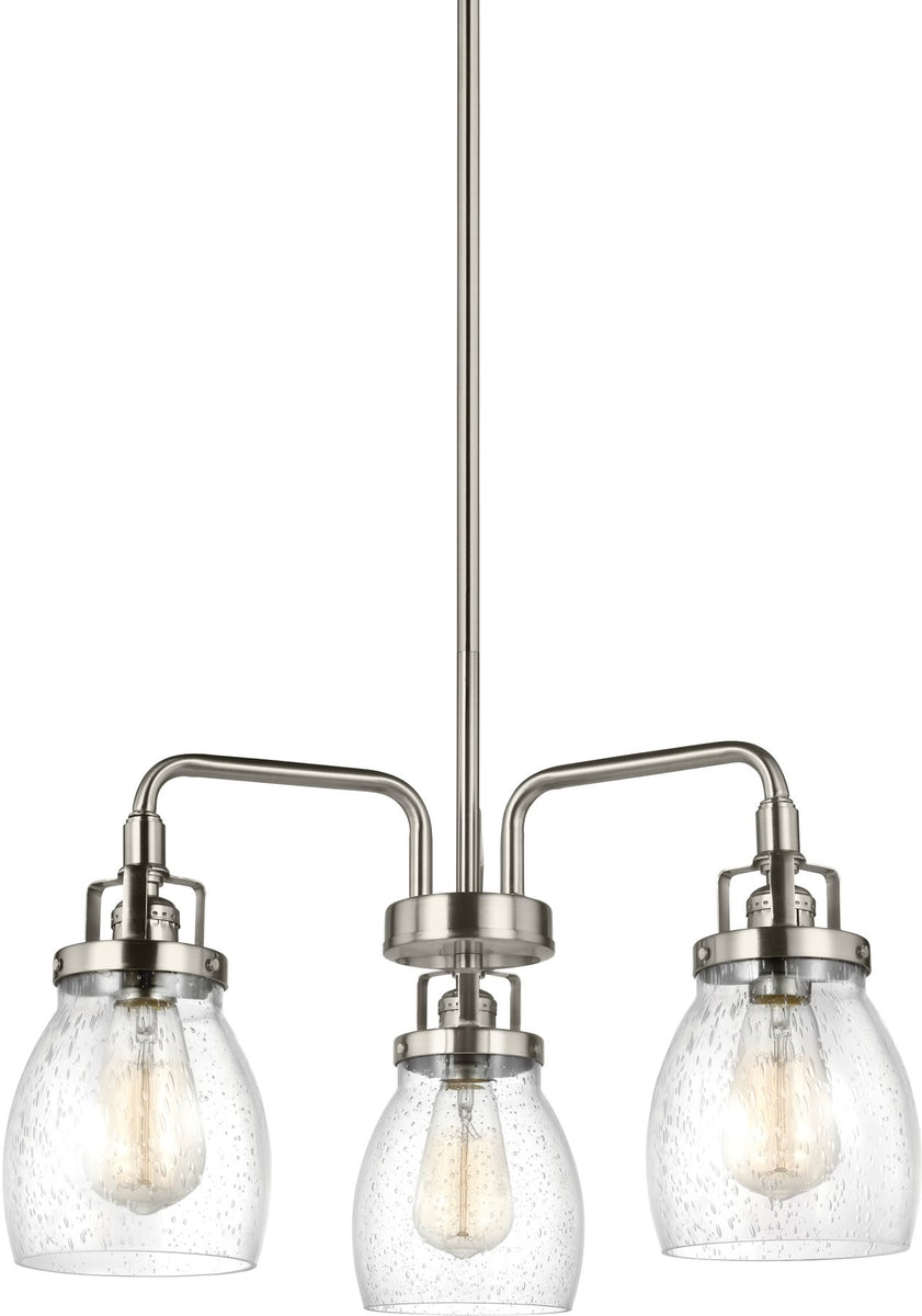 "20""W Belton 3-Light Single-Tier Chandelier Brushed Nickel"