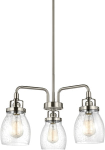 Belton 3-Light Single-Tier Chandelier Brushed Nickel