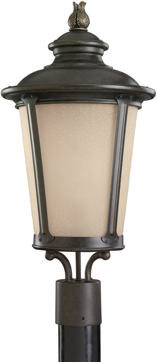 Cape May 1-Light Outdoor Post Lantern Burled Iron