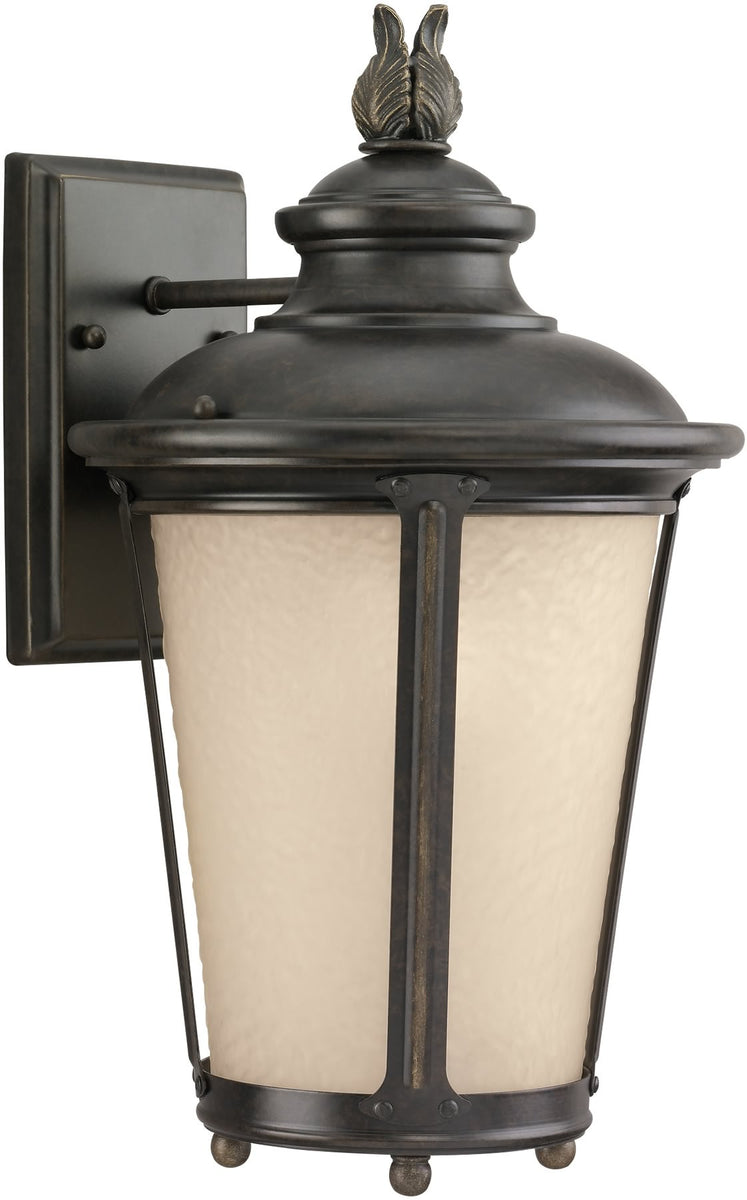 "16""H Cape May 1-Light Outdoor Wall Lantern Burled Iron"