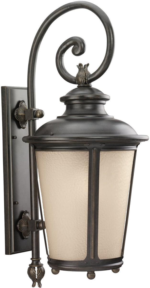 "30""H Cape May 1-Light Outdoor Wall Lantern Burled Iron"