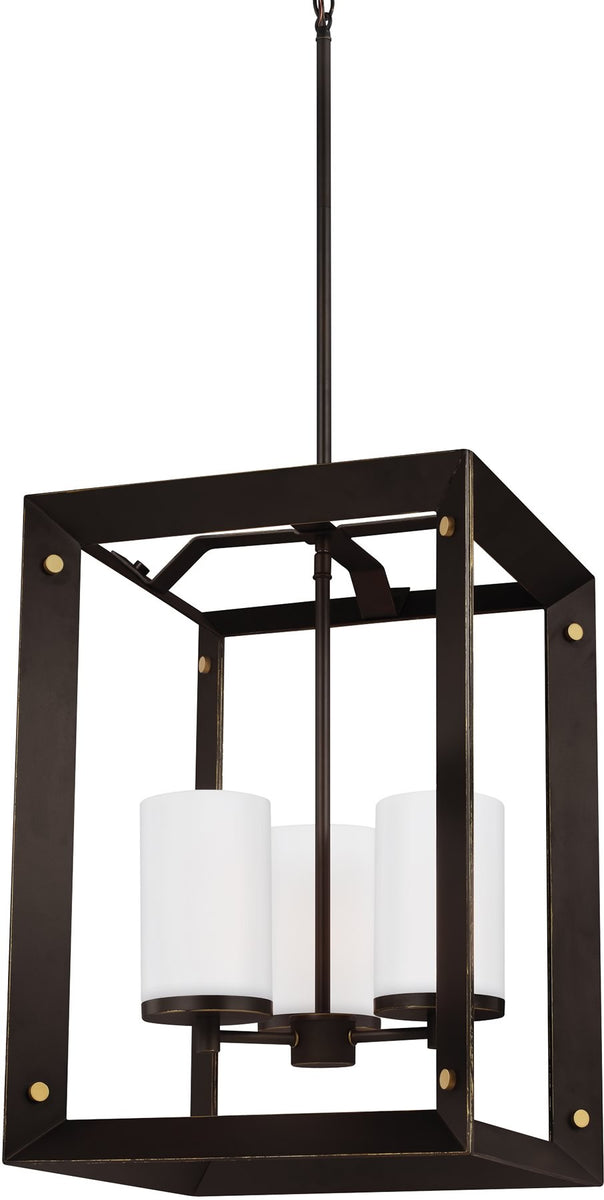 Chatauqua 3-Light Hall Foyer Pendant Antique Bronze