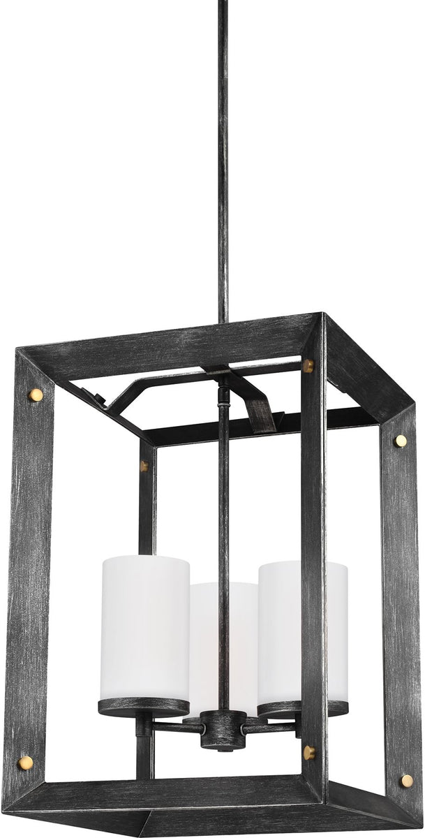 "14""W Chatauqua 3-Light Hall Foyer Pendant Stardust"