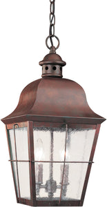 Chatham 2-Light Energy Star Outdoor Pendant Light Silver