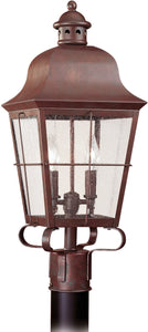 Chatham 2-Light Energy Star Outdoor Post Lantern Silver