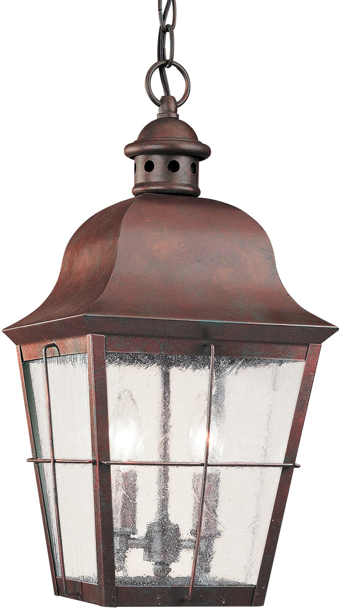 "12""W Chatham 2-Light Outdoor Pendant Light Weathered Copper"