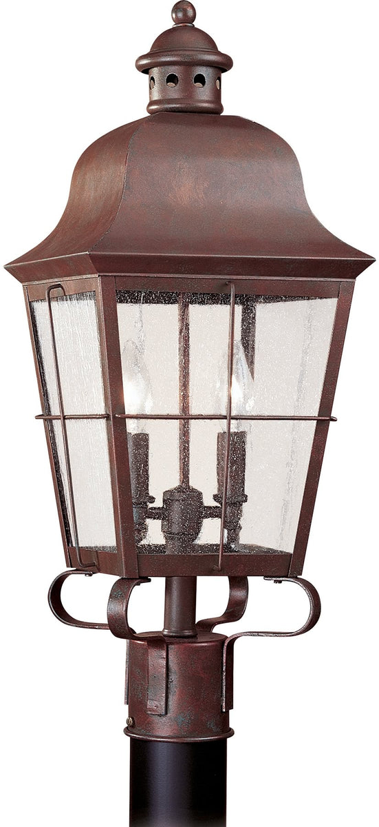 "23""H Chatham 2-Light Outdoor Post Lantern Weathered Copper"