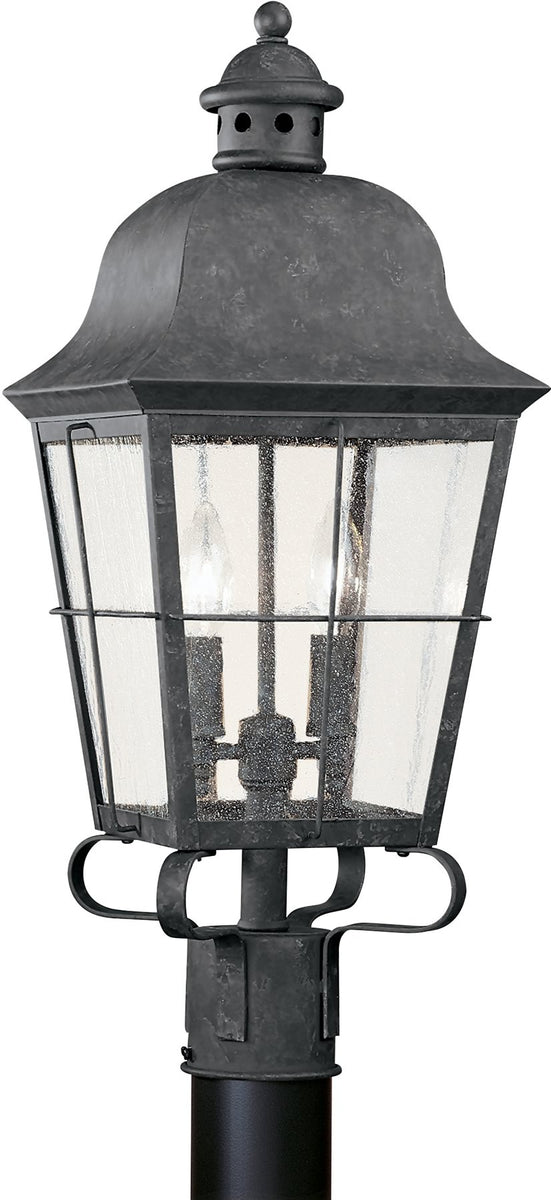 "23""H Chatham 2-Light Outdoor Post Lantern Oxidized Bronze"