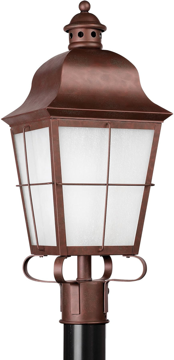 "23""H Chatham 1-Light Outdoor Post Lantern Weathered Copper"
