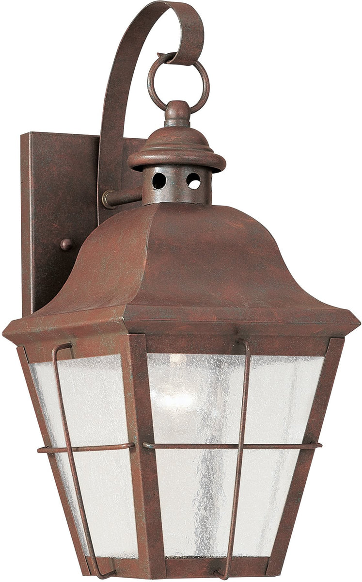 "15""H Chatham 1-Light Outdoor Wall Lantern Weathered Copper"