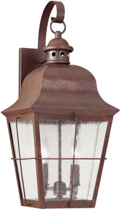 Sea Gull Lighting Chatham 2-Light Outdoor Wall Lantern Weathered Copper