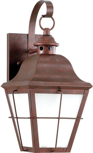 Sea Gull Lighting Chatham 1-Light Outdoor Wall Lantern Weathered Copper