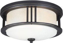 Crowell 2-Light Outdoor Flush Mount Antique Bronze