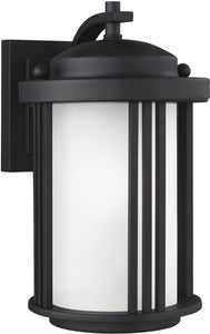 "10""H Crowell 1-Light Outdoor Wall Lantern Black"