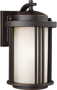 Sea Gull Lighting Crowell 1-Light Outdoor Wall Lantern Antique Bronze