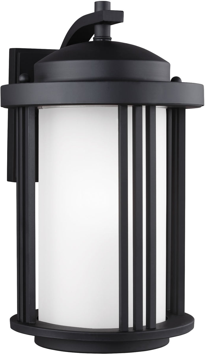 "15""H Crowell 1-Light Outdoor Wall Lantern Black"