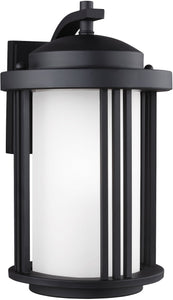 Sea Gull Lighting Crowell 1-Light Outdoor Wall Lantern Black