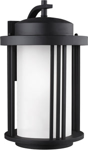 Crowell 1-Light Outdoor Wall Lantern Black