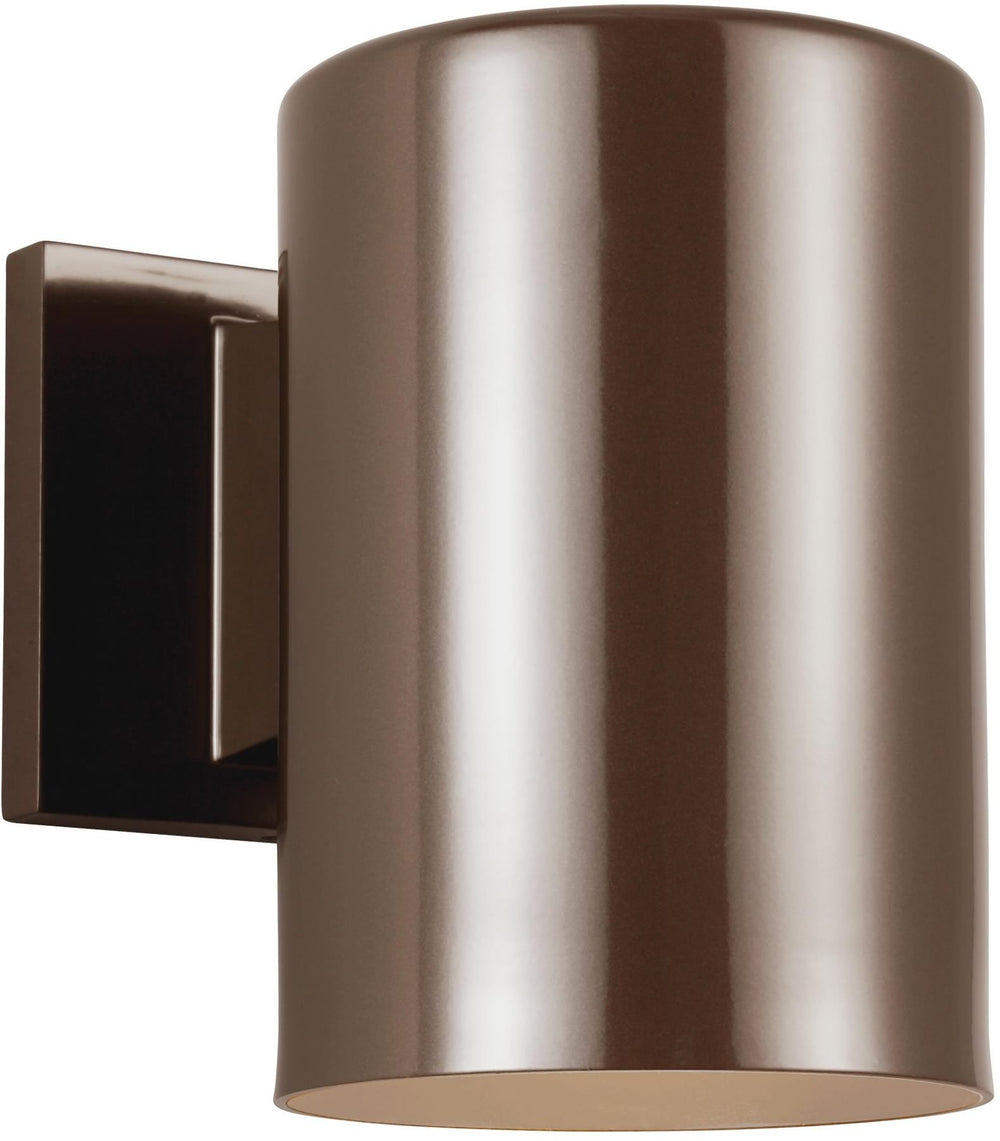"7""H Cylinders 1-Light Outdoor Wall Lantern Bronze"