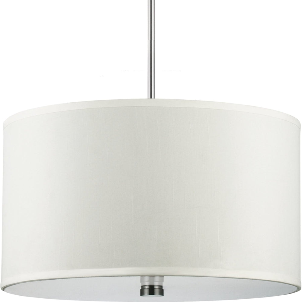 "19""W Dayna Shade 3-Light Pendant Brushed Nickel"