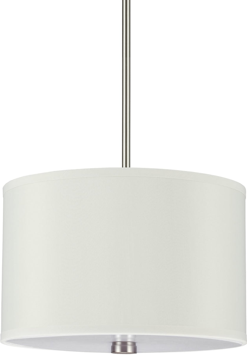"14""W Dayna Shade 2-Light Pendant Brushed Nickel"