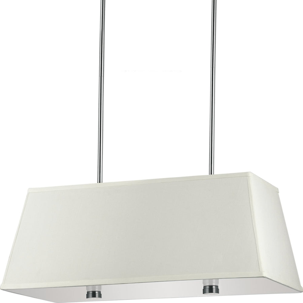 "36""W Dayna Shade 4-Light Pendant Brushed Nickel"