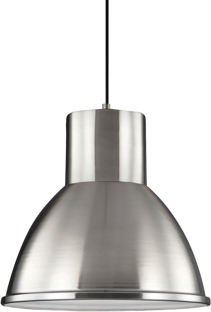 "15""W Division Street 1-Light Pendant Brushed Nickel"
