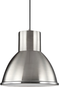 Sea Gull Lighting Division Street 1-Light Pendant Brushed Nickel