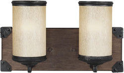 Dunning 2-Light Wall Sconce Stardust/Cerused Oak
