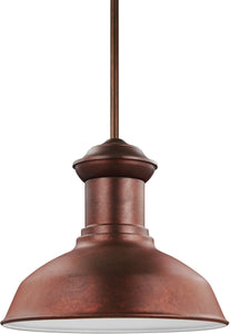 Sea Gull Lighting Fredricksburg 1-Light Outdoor Pendant Light Weathered Copper