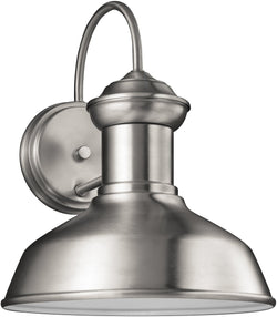 Fredricksburg 1-Light Outdoor Wall Lantern Satin Aluminum
