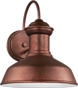 Sea Gull Lighting Fredricksburg 1-Light Outdoor Wall Lantern Weathered Copper