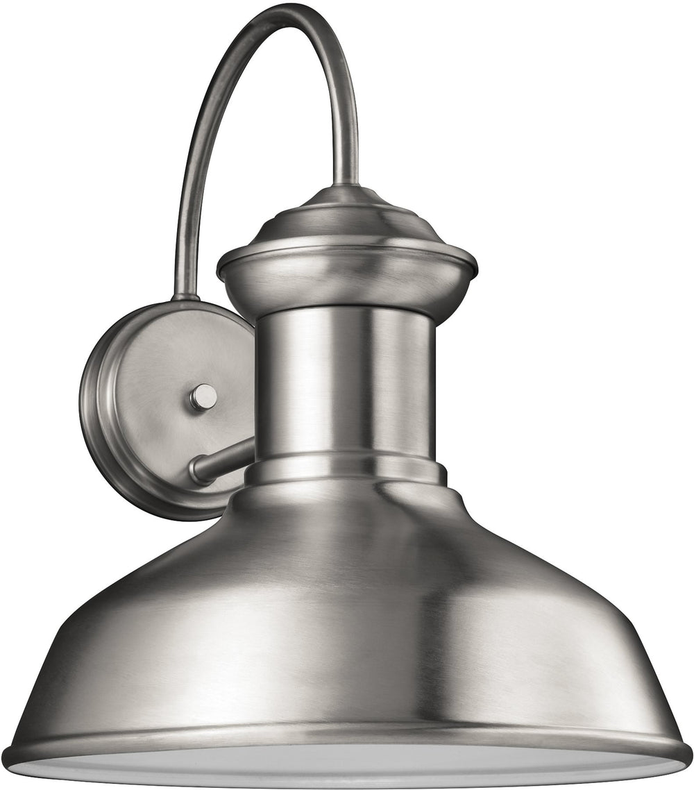 "16""H Fredricksburg 1-Light Outdoor Wall Lantern Satin Aluminum"
