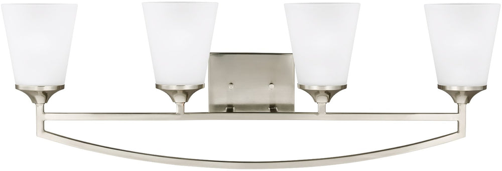 "34""W Hanford 4-Light Bath Vanity Brushed Nickel"