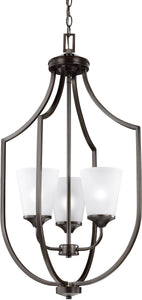 Hanford 3-Light Hall Foyer Pendant Burnt Sienna