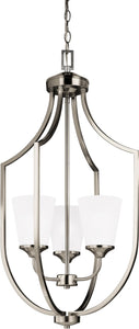 Hanford 3-Light Hall Foyer Pendant Brushed Nickel