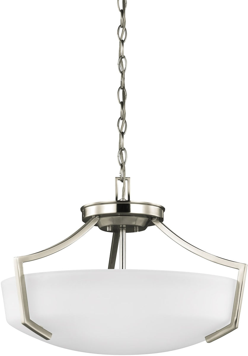 "21""W Hanford 3-Light Indoor Semi-Flush Convertible Brushed Nickel"