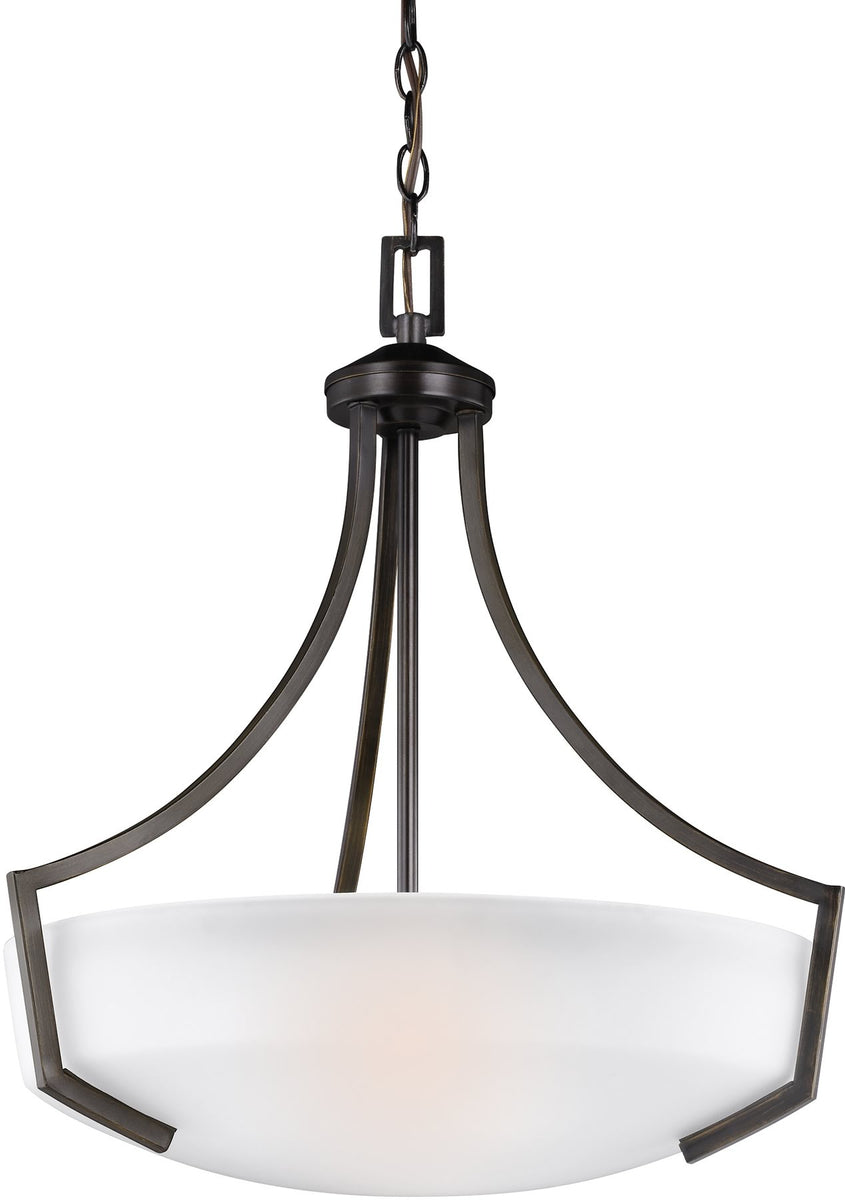"21""W Hanford 3-Light Pendant Burnt Sienna"