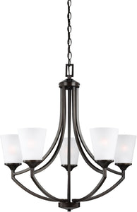 Sea Gull Lighting Hanford 5-Light Single-Tier Chandelier Burnt Sienna