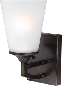 Sea Gull Lighting Hanford 1-Light Wall Sconce Burnt Sienna