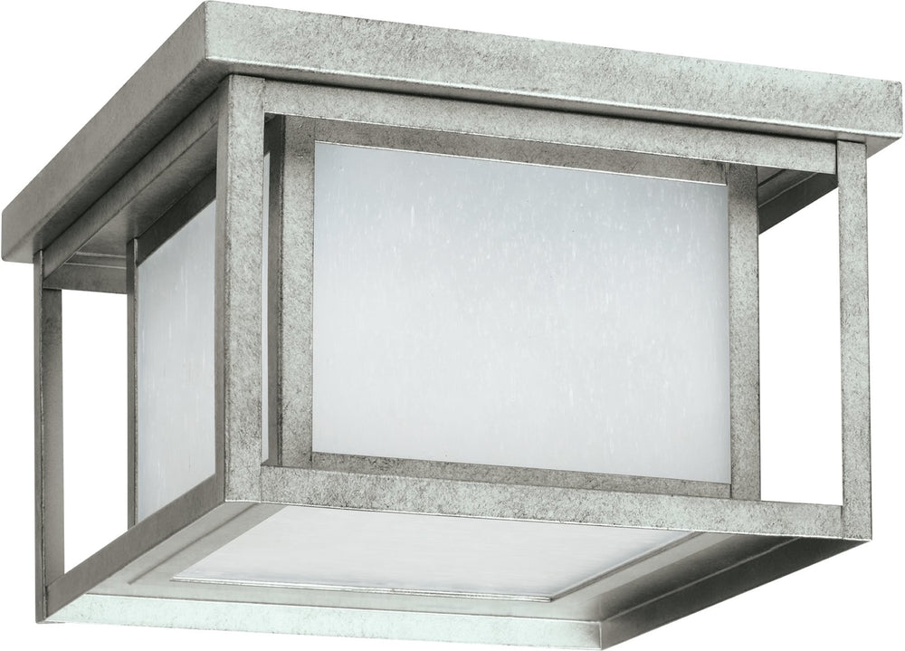 Hunnington 2-Light Outdoor Flush Mount Weathered Pewter