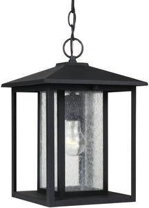 Sea Gull Lighting Hunnington 1-Light Outdoor Pendant Light Black