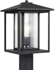 Sea Gull Lighting Hunnington 1-Light Outdoor Post Lantern Black