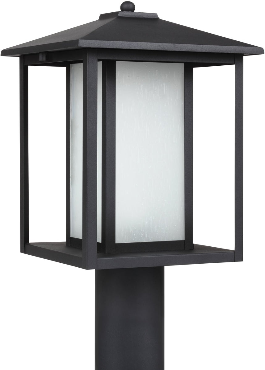 "15""H Hunnington 1-Light Outdoor Post Lantern Black"