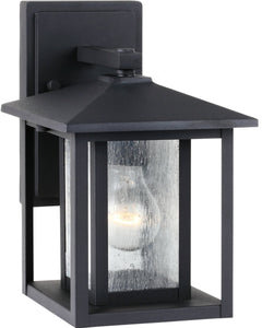 Sea Gull Lighting Hunnington 1-Light Outdoor Wall Lantern Black