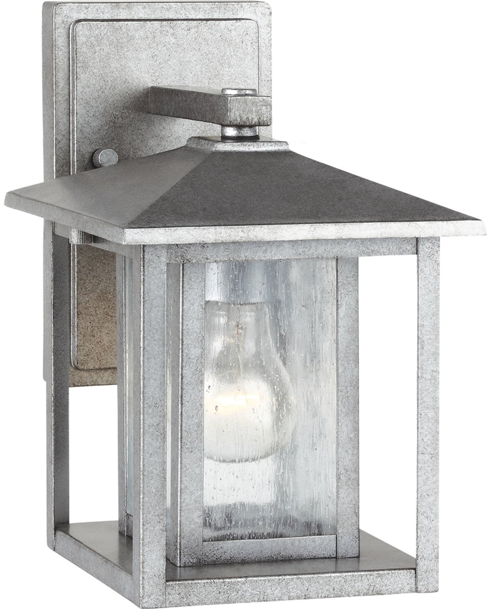 "11""H Hunnington 1-Light Outdoor Wall Lantern Weathered Pewter"