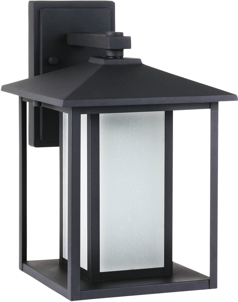 "14""H Hunnington 1-Light Outdoor Wall Lantern Black"