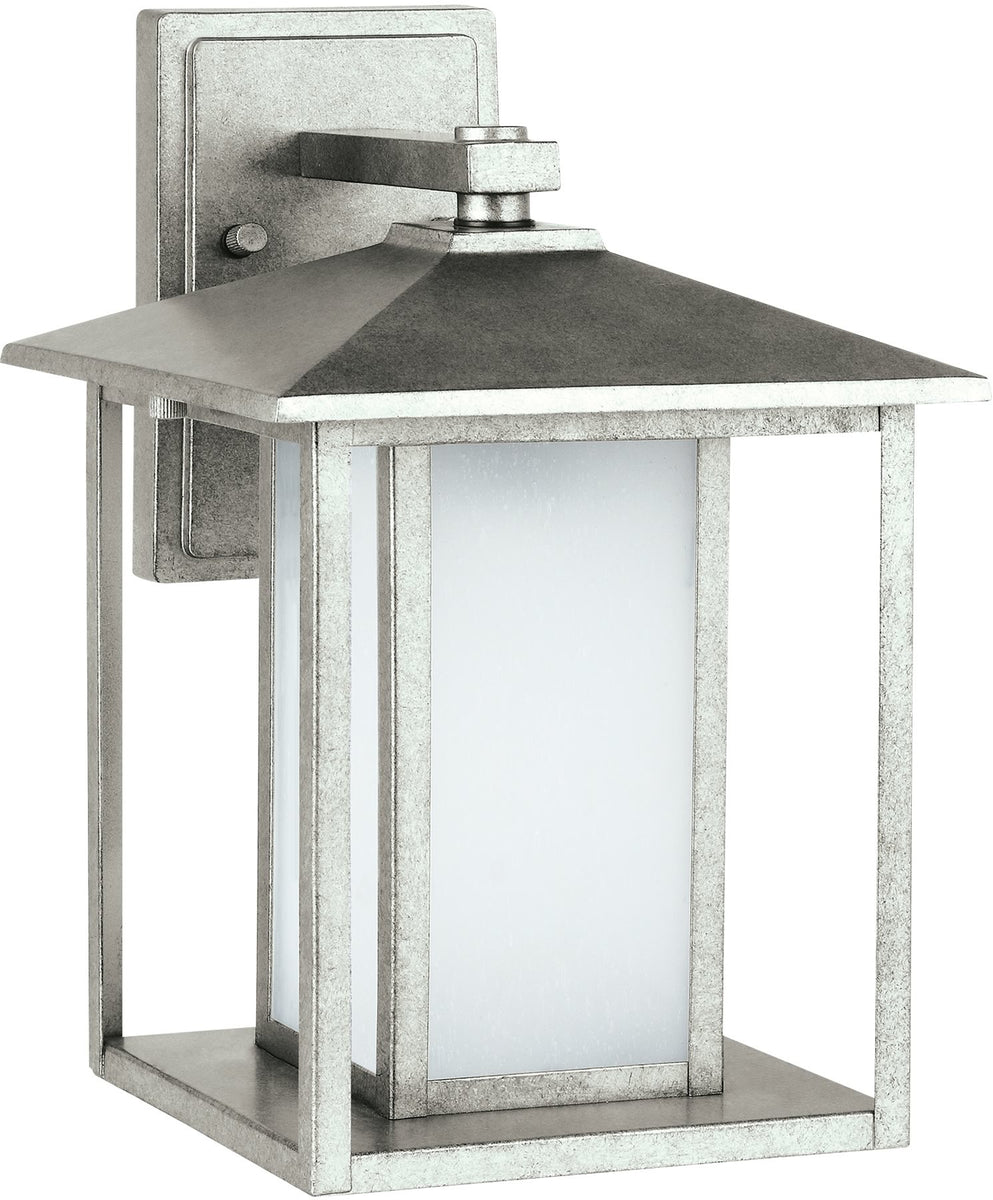 "14""H Hunnington 1-Light Outdoor Wall Lantern Weathered Pewter"