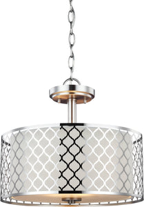 Sea Gull Lighting Jourdanton 2-Light Indoor Semi-Flush Convertible Brushed Nickel