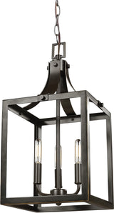 Sea Gull Lighting Labette 3-Light Hall Foyer Pendant Heirloom Bronze